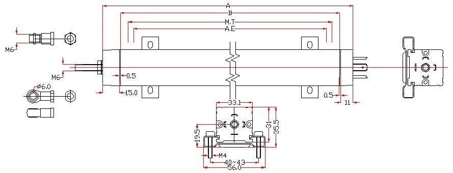 直线位移传感器